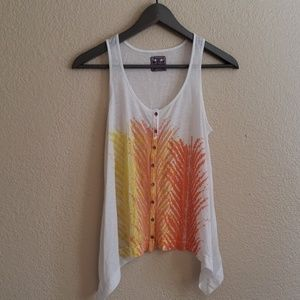 Free People feather pattern top sz xs